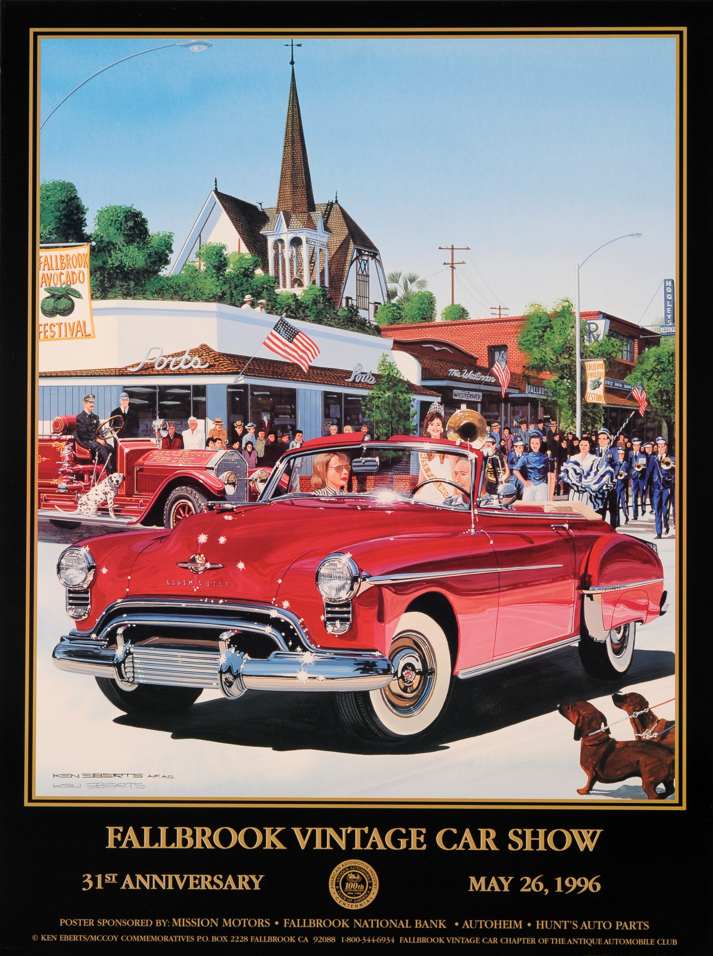 1996 Parade on Main St – Fallbrook Vintage Car Club